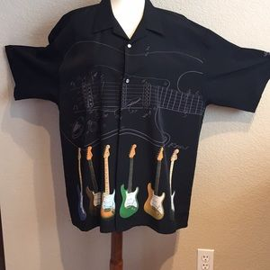 Other - Men's black polyester shirt